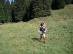 Me running in hills