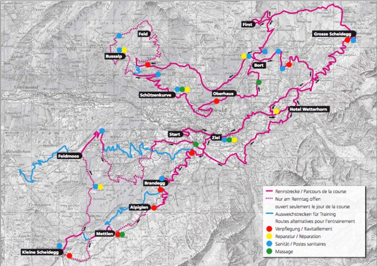 88km Course Map Eiger Bike Challenge