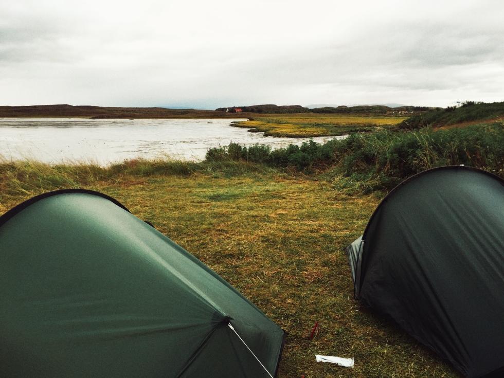 The campsite in Bogarnes